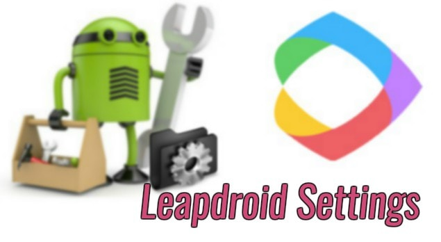 Leapdroid Settings